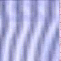 *1 YD PC--Periwinkle Blue Pinstripe Lawn