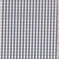 *2 1/4 YD PC--White/Slate/Beige Check Cotton Shirting