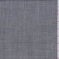 *2 YD PC--Black Glenplaid Linen Blend Suiting