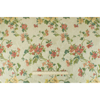 *7 YD PC--Parchment Ivory/Multi Floral Tapestry Decorating Fabric