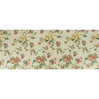 *6 YD PC--Parchment Ivory/Multi Floral Tapestry Decorating Fabric