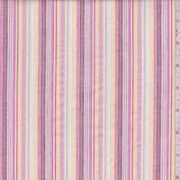 Pink/Berry/Yellow Stripe Cotton Oxford