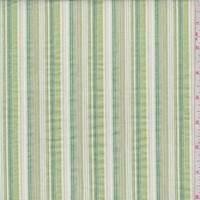 Lime/Sage/White Stripe Cotton Oxford
