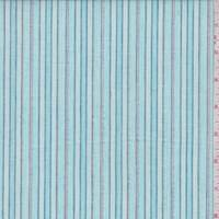 Turquoise Stripe Cotton Lawn