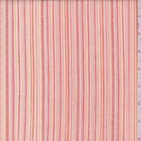 Tangerine Embroidered Stripe Cotton