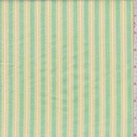 Citron Green Embroidered Stripe Cotton