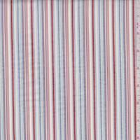 Burnt Orange/White Multi Seersucker Stripe Cotton
