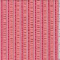 Coral Seersucker Stripe Cotton