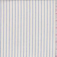 White/Navy/Yellow Pinstripe Cotton Shirting