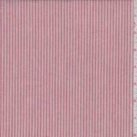 Red/Blush Pinstripe Cotton Shirting