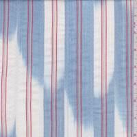 White/Chambray Ikat Stripe Cotton