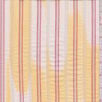 White/Yellow Ikat Stripe Cotton