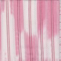 White/Deep Pink Ikat Stripe Cotton