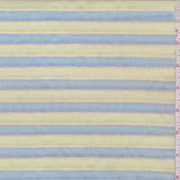 Pale Lime/Blue Stripe Pleated Cotton