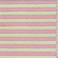 Pale Lime/Red Stripe Pleated Cotton