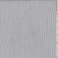 White/Black Pinstripe Cotton