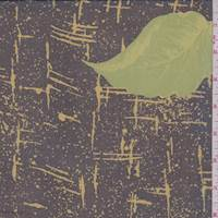*7/8 YD PC--Black/Golden Olive Splatter Silk Chiffon