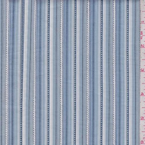 Denim White Stripe Cotton Shirting 83800 Discount Fabrics