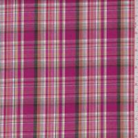 Fuchsia Multi Plaid Shirting