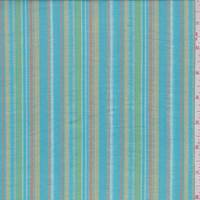 Turquoise Multi Stripe Cotton Gauze