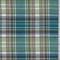 Spring Green/Teal Multi Plaid Flannel