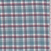 Spa Blue/White Plaid Flannel