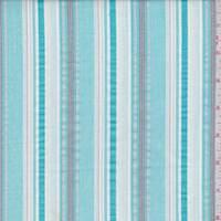 Turquoise/White Stripe Cotton Oxford