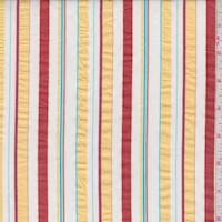 White/Yellow/Rust Stripe Cotton