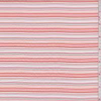 Orange/Blue/Pink Seersucker Stripe Cotton