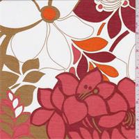 *3 YD PC--Pink/Multi Floral Print China Silk