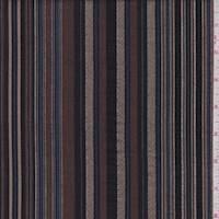Mocha/Black Stripe Shirting