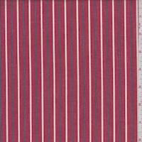 Crimson Red Stripe Cotton Shirting