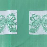 *4 PANELS--Green/White Butterfly PANELS