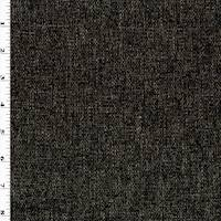 *3 YD PC--Deep Charcoal/Taupe Chenille Dobby Decorating Fabric