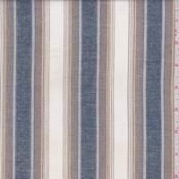 White/Navy/Tobacco Stripe Cotton