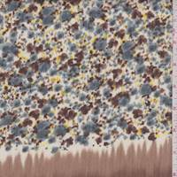 Brown/Slate Mini Floral Crinkle Chiffon