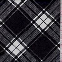 Black/White Plaid Chiffon
