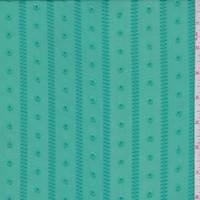 Jade Green Jacquard Stripe Chiffon