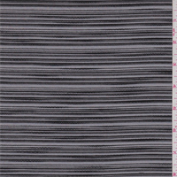 *1 3/8 YD PC--Black Embroidered Stripe Organza