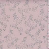 Dusty Pink/Grey Poppy Chiffon