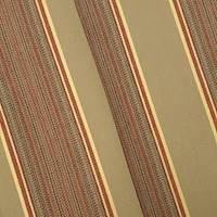 *6 YD PC--Brown/Beige/Multi Indoor/Outdoor Stripe Woven Decor Fabric