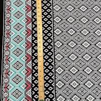 Black/White Southwest Diamond Challis Panel