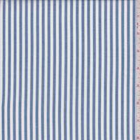 Denim Blue/White Stripe Shirting