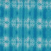 Aqua/Turquoise Tie Dye Diamond Crepe Georgette