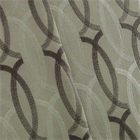 *3 YD PC--Brown/Ivory Lattice Embroidered Home Decorating Fabric