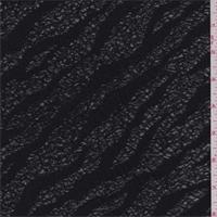 *2 YD PC--Black Zebra Stripe Brushed Knit