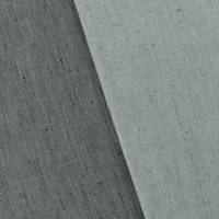 *1 1/2 YD PC--Black/Mist Gray Linen Blend Twill Jacketing