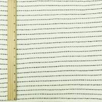 *1 YD PC--Whisper White/Black Texture Stripe Sweater Knit