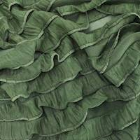*3 3/4 YD PC--Cedar Green Ruffle Knit