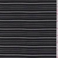 *4 1/8 YD PC--Black Stripe Chiffon